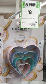 Wiltshire 4 Pack Heart Cutters