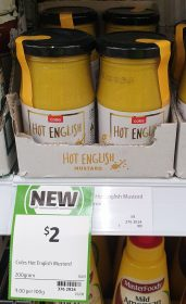Coles 200g Mustard Hot English