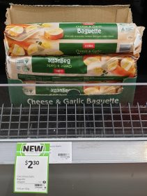 Coles 250g Baguette Cheese & Garlic