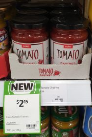 Coles 260g Tomato Chutney