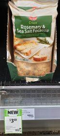 Coles 280g Crispy Rosemary & Sea Salt Focaccia