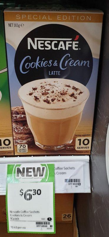 Nescafe 165g Latte Cookies & Cream