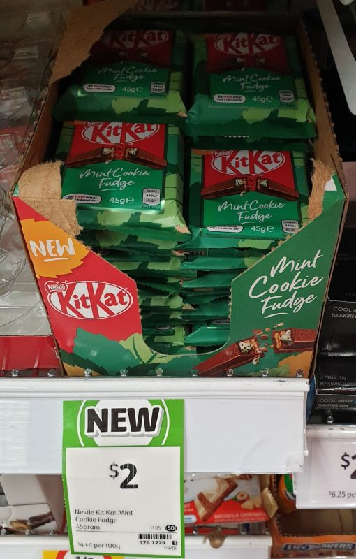 Nestle 45g KitKat Mint Cookie Fudge