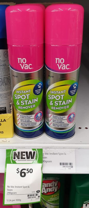 No Vac 290g Instant Spot & Stain Remover