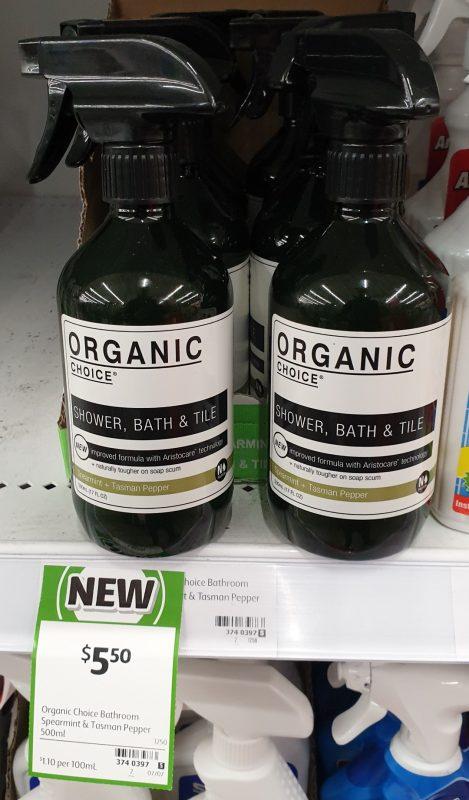 Organic Choice 500mL Shower, Bath & Title Spearmint + Tasman Pepper
