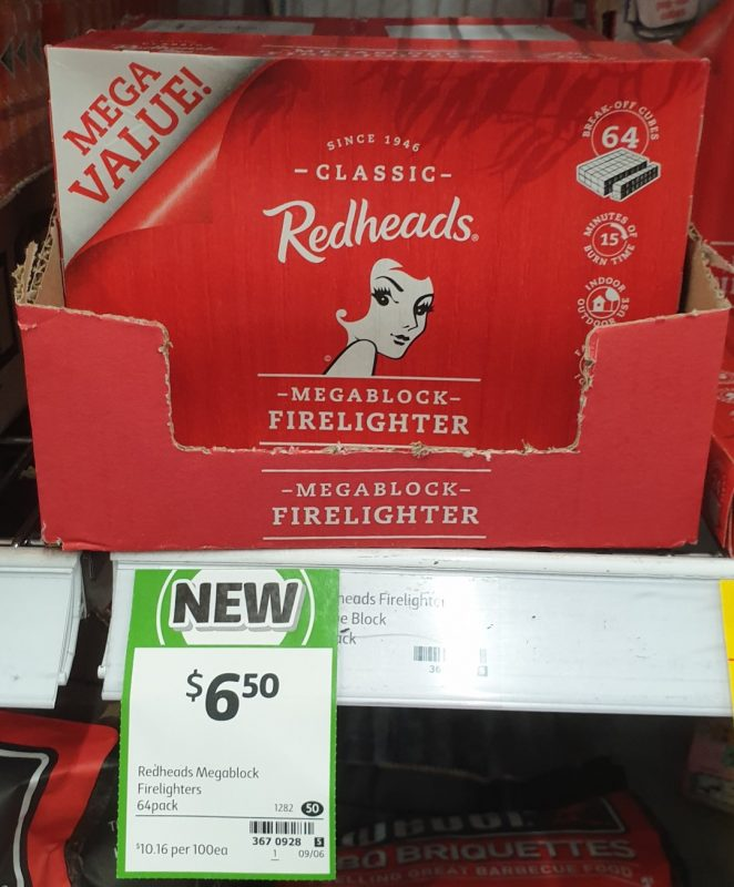 Redheads 64 Pack Firelighter Mega Block