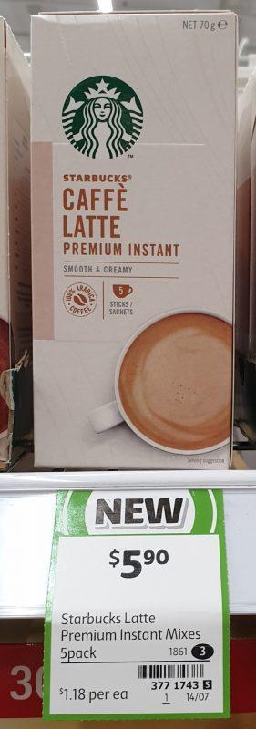 Starbucks 70g Caffe Latte Premium Instant