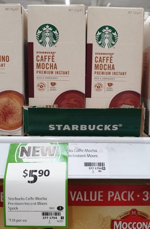 Starbucks 70g Caffe Mocha Premium Instant