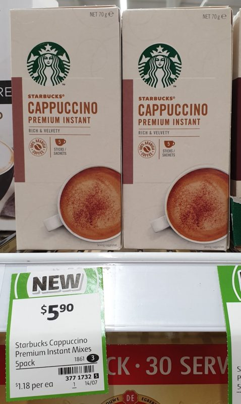 Starbucks 70g Cappuccino Premium Instant