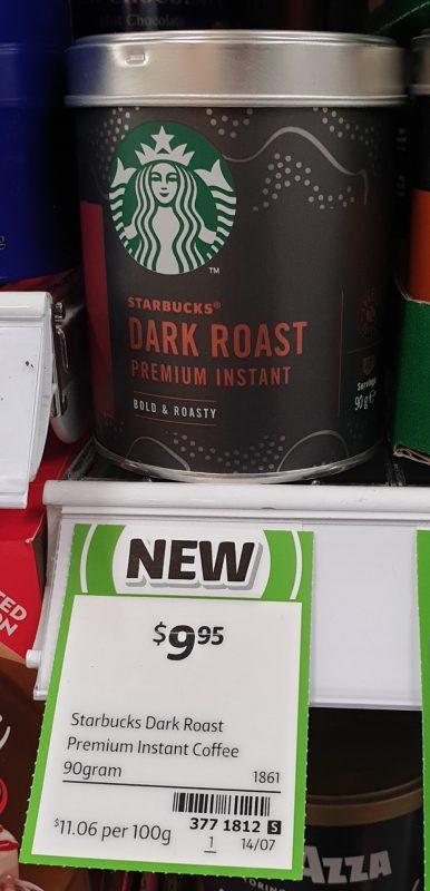 Starbucks 90g Premium Instant Dark Roast