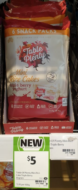 Table Of Plenty 84g Rice Cakes Mini Triple Berry Yoghurt