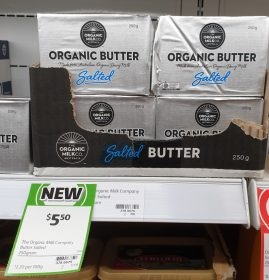 The Organic Milk Company 250g Butter Organic Salted