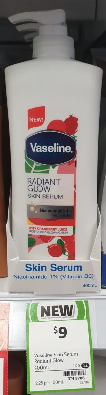Vaseline 400mL Skin Serum Radiant Glow