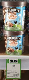 Ben & Jerry's 458mL Topped Ice Cream Salted Caramel Brownie