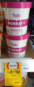 Bulla 460mL Murray St Ice Creamery Blackberry Swirl & Brownie Pieces