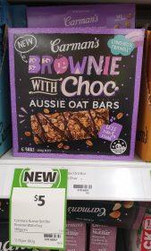 Carman's 180g Oat Bars Brownie With Choc