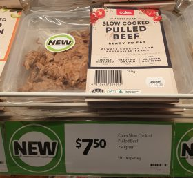 Coles 250g Pulled Beef