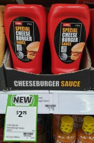 Coles 375mL Sauce Special Cheese Burger