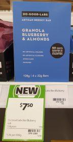 Do Good Labs 128g Brekky Bar Granola Blueberry & Almonds