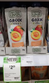 Farmers Union 130g Greek Style Yogurt Peach