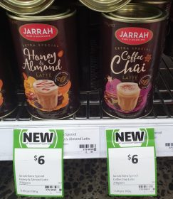Jarrah 210g Latte Honey & Almond, Coffee Chai