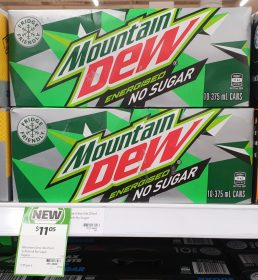 Mountain Dew 10 X 375mL Energised No Sugar
