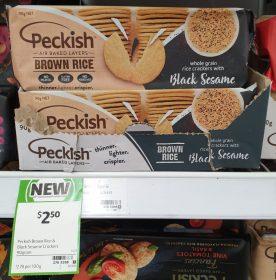 Peckish 90g Rice Crackers Black Sesame