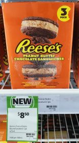 Reese's 441mL Ice Cream Sandwiches Peanut Butter Chocolate