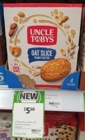 Uncle Tobys 140g Oat Slice Peanut Butter