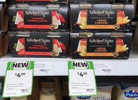 Wicked Sister Desserts 300g Panna Cotta Strawberry, Creme Caramel