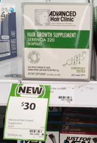 Advanced Hair Clinic 1 Pack Hair Growth Supplement Serenoa 320