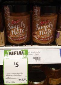 Bega 315g Simply Nuts Peanut Butter Dark Roast Crunchy