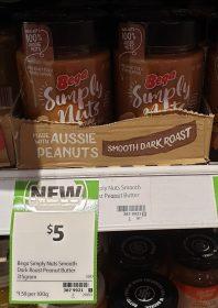 Bega 315g Simply Nuts Peanut Butter Dark Roast Smooth