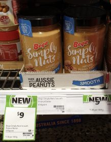 Bega 650g Simply Nuts Peanut Butter Smooth