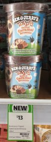 Ben Jerrys 438mL Topped Salted Caramel Brownie 1