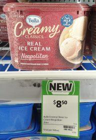 Bulla 2L Creamy Classics Ice Cream Neapolitan 1