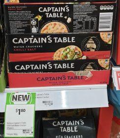Captain's Table 125g Water Crackers Shilli Salt