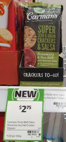 Carman's 50g Crackers To Go Rosemary & Sea Salt