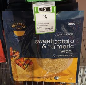 Coles 180g Wellness Road Wraps Sweet Potato & Turmeric