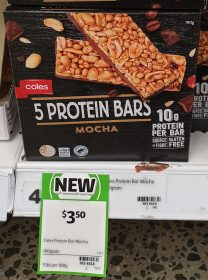 Coles 190g Protein Bars Mocha