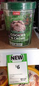 Coles 1L Irresistible Vegan Cookies Creme 1