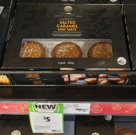 Coles 200g Finest Luxury Mini Tarts Salted Caramel