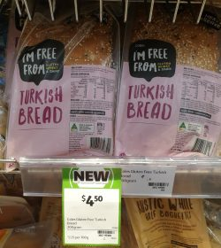 Coles 200g Im Free From Bread Turkish 1