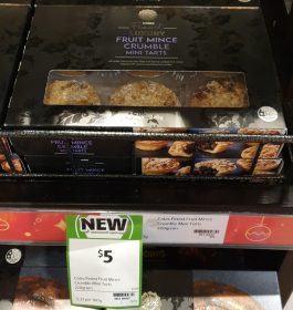 Coles 220g Finest Luxury Mini Tarts Fruit Mince Crumble