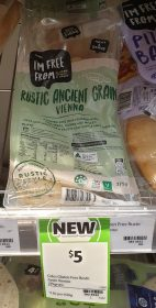 Coles 275g Im Free From Vienna Rustic Ancient Grain 1