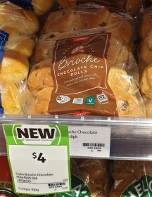 Coles 280g Brioche Rolls Chocolate Chip