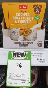 Coles 350g Curry With Rice Healthy Chickpea Sweet Potato Turmeric