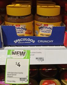 Coles 350g Speculoos Biscuit Spread Crunchy