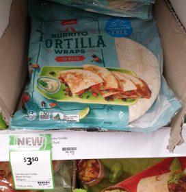 Coles 400g Tortilla Burrito Wraps