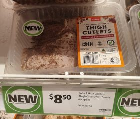 Coles 600g Thigh Cutlets Sumac & Cranberry Rub